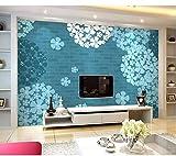 Kuamai Kundenspezifische Wandgemälde 3D, Elegante Blaue Hortensie Tapete, Hotelrestaurant Wohnzimmer Sofa Tv Wand Schlafzimmer Tapete Für Die Wand-200X140cm