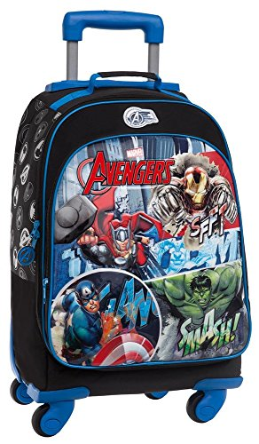 Marvel avengers street set per la scuola, poliestere, blu, 47 cm