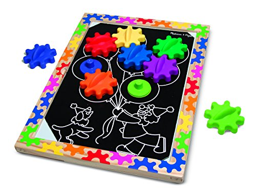 SWITCH & SPIN MAGNETIC GEAR BOARD: SKILL BUILDERS   EARLY LEARNING