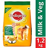 Pedigree Puppy Dry Dog Food, Milk & Vegetables – 1.2 kg Pack