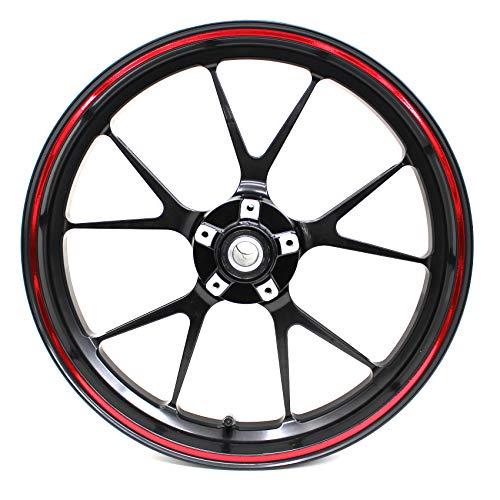 Zietech | Strisce adesive per cerchioni, cromate | Incl. kit di montaggio completo 'Finest Folia' adatto per cerchioni da 16, 17, 18, 19 pollici per moto, auto e biciclette