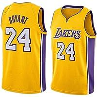 FMSport Jerseys De Baloncesto para Hombre - NBA Lakers # 24 Bryant Uniforme De Baloncesto Camiseta De Chaleco Clásico De Tela Transpirable Fresca,M~170cm/65~75kg