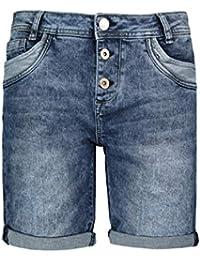6e8a5eeaa9d8ec Sublevel Damen Shorts | Blaue Jeans Bermuda mit Destroyed Parts im  Boyfriend-Style