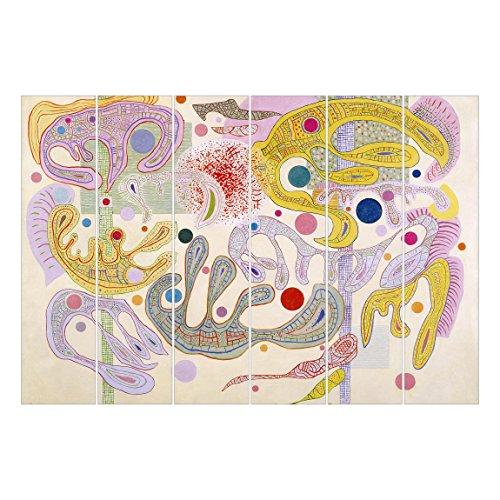 Bilderwelten Schiebegardinen Set - Wassily Kandinsky - Launische Formen - 6 Flächenvorhänge,...