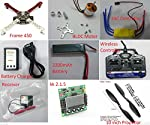 Package Include 1 x F450 Frame 4 x BLDC Motor 4 x ESC Motor Speed Controller 1 x 2-3 Cell Battery Charger 1 x 2200 mAh Battery 1 x Wireless transmitter and Receiver (Remote) 1 x KK2.1.5 Flight Controller 4 x Propellor (2 x CCW & 2 x CW)