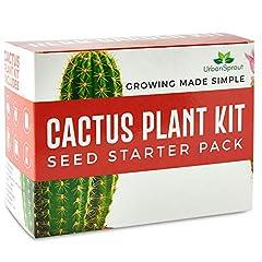 Idea Regalo - Urban Sprout Kit per Il Cactus - Fai Crescere Le tue Piante di Cactus al Chiuso - Un Regalo per Il Giardinaggio inusuale - Semini, vasetti, Terra per Il Cactus