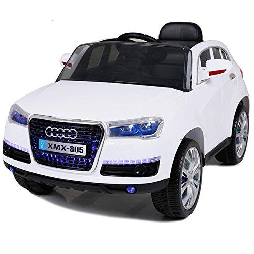 Babycoches - Coche eléctrico para niños Q5 Style, con mando a distancia para control parental, 12V, color blanco