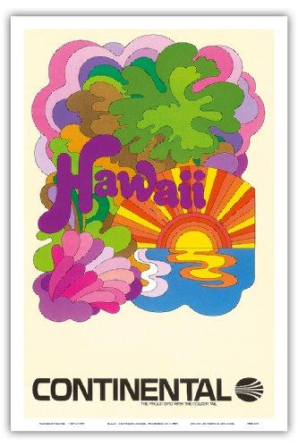 hawaii-continental-airlines-arte-psicodelico-aerea-de-viaje-c1960s-hawaiian-maestro-de-arte-12-x-18