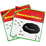 com-four 8X Ameisenköder-Dosen, zur zuverlässigen Ameisenbekämpfung (08 Stück - Ameisenköder)