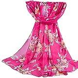 Quaan Damen Mode Gedruckt Schal Baumwolle und Leinen- Streifen exquisit Hijab Weich Winter Warm Solide Stricken Wolle Hals Retro Draußen Glamourös Weich Elegant Sexy Klassisch Seide Schal