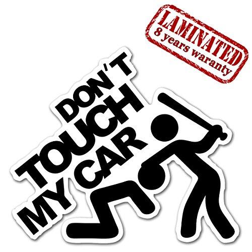 1 x Adesivo Vinile Divertente Funny Sticker Don't Touch My Car Non Toccare La Mia Macchina Per Auto Moto Casco Scooter Bici Motociclo Tuning B 103