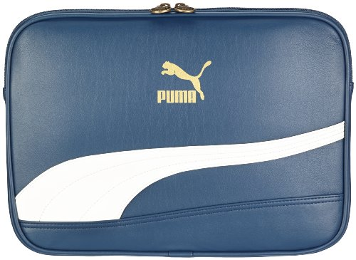 Puma Laptoptasche Bytes Laptop Sleeve, blue wing teal-whisper white-metallic finish, S, 1 Liter, 071926 04