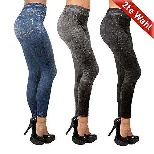 Mediashop Slim Jeggings | 3er-Pack | Shapewear | Jeans-Optik Look | Leggings | Das Original aus dem TV