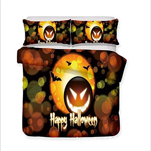 che Set Halloween Cartoon Before Christmas Friends Geschenk Bettbezug Set Heimtextilien A 180x210cm ()