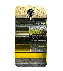 PrintVisa Modern Art Steel Design 3D Hard Polycarbonate Designer Back Case Cover for Micromax Canvas Express 2 E313