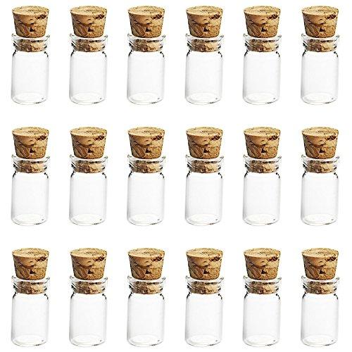 Vococal® 50PCS 0.5ml Vides Verre de Huile Essentielle Parfum avec Cork Stopper