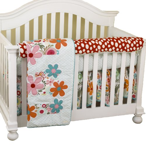Cotton Tale Designs avant Crib Rail Cover Up Set, Lizzie en coton Tale Designs