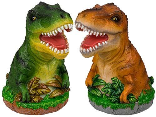 Bada Bing 2er Set Spardose Dinosaurier Dino GRÜN Und BRAUN Ca. H. 14,5 x Ø 8,5 cm T-Rex Sparschwein Zum Geld Sparen Geschenk Junge Geburstatg WeihnachtenGeldgeschenk Verpacken 94