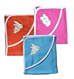 MY NEWBORN Baby Wrapper cum baby Blankets -Combo set of 3 Pcs. Baby blankets with In Fancy Borders