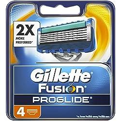Gillette Fusion Proglide - Recambio para cuchillas de afeitar, 4 unidades, 200 gr