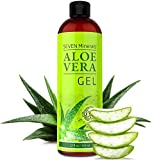 BEST Aloe Vera GEL - 99% Organic, 355ml - NO XANTHAN, Absorbs Rapidly, No Residue - USA made - SEE RESULTS OR MONEY-BACK - Unique Formula with natural SEAWEED. Best Moisturizer for Face, Skin & Hair.
