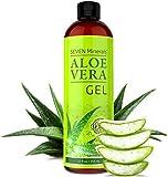 Aloe Vera GEL - 99% biologisch, 12oz - KEIN XANTHAN, zieht schnell ein, keine Rückstände - Made in USA - ERGEBNISSE ERZIELEN ODER GELD ZURÜCK - Einzigartige Formel mit natürlichen ALGEN. Feuchtigkeitspflege für Gesicht, Haut und Haar