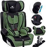 KIDIZ® Autokindersitz Kindersitz Kinderautositz   Autositz Sitzschale   9 kg - 36 kg 1-12 Jahre   Gruppe 1/2 / 3   universal   zugelassen nach ECE R44/04   6 verschiedenen Farben Grün
