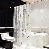 JIAO Duschvorhang Lichtdurchlässiger Duschvorhang PEVA-Duschvorhang Druckte Badezimmer Anti-Schimmeliger umweltfreundlicher Antibakterieller Duschvorhang (Reine Farbe) de