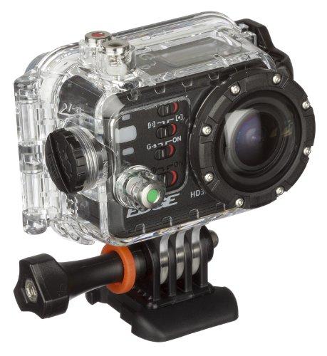 Kitvision Edge HD30W Waterproof Full HD 1080p Wasserfeste Sport Kamera Action Camera mit Wi-Fi/WLAN, Umfangreichem Halterungsset und Wasserdichtem Gehäuse - Schwarz