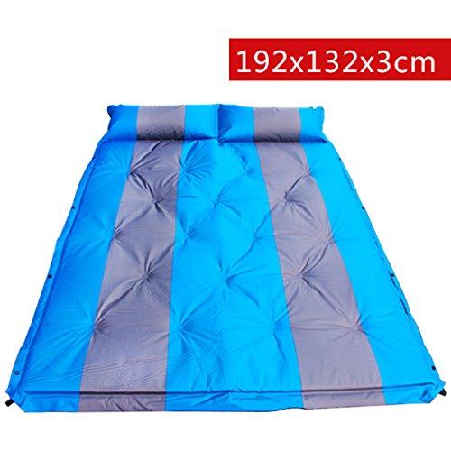 TYJ Picknick-Decken Automatisches Aufblasbares Auflage-Zelt Kann Gespleißtes Doppeltes Feuchtigkeitsfestes Auflage-Auflage-Matten-Blau Sein ( Farbe : Blau , größe : 192*132*3cm )