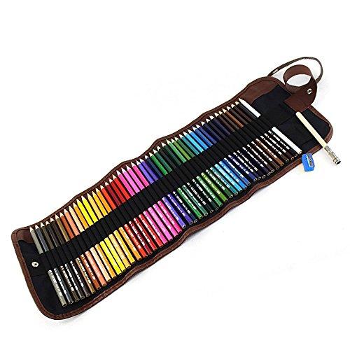 Preisvergleich Produktbild Buntstift, BEETEST 48 Kunst Buntstifte mit tragbaren Leinwand Bleistift Wrap Pouch für Erwachsene Malbücher Zeichnung Schreiben skizzieren Kritzeln