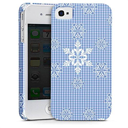 Apple iPhone X Silikon Hülle Case Schutzhülle Schneeflocken Weiß Blau Muster Premium Case glänzend