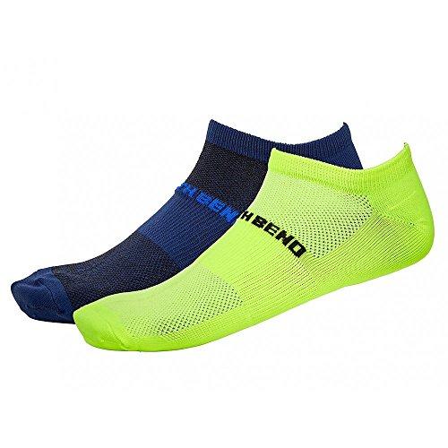 North Bend ExoCool Socks - 2er Pack Damen Socken - 135307-5005 marine/neongelb, Größe :35-38