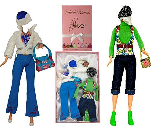 """Lotto di Vestiti """"JOUET"""" per bambole Barbie, Disney ed altri personaggi - """"serie limitata"""""""