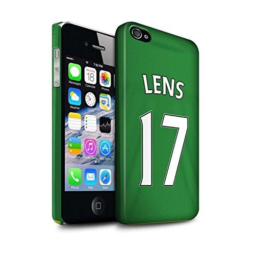 Officiel Sunderland AFC Coque / Clipser Matte Etui pour Apple iPhone 4/4S / Pack 24pcs Design / SAFC Maillot Extérieur 15/16 Collection Lens