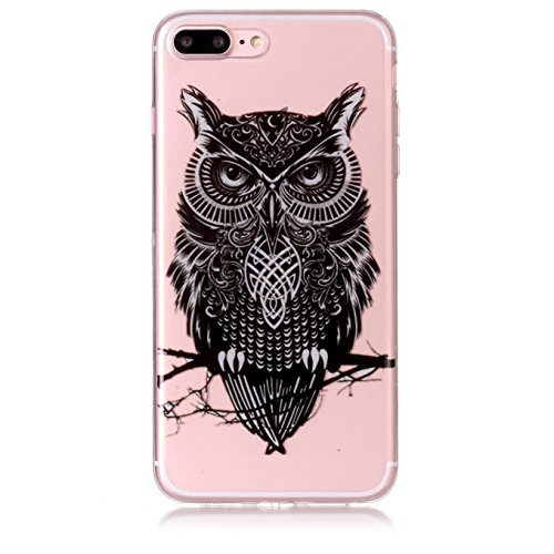 Coque iPhone 7 Plus,Coque iPhone 8 Plus Gel de Silicone Housse,AyiHuan Ultra-Thin TPU Protecteur Souple Transparente Coque Back Case Cover pour Apple iPhone 7 Plus /iPhone 8 Plus,L4 L3