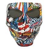Vhccirt Moto Racing Masque de Protection polarisées Lunettes Lunettes de Ski Masque d'halloween COS Masque de tête de Mort jour commémoratif