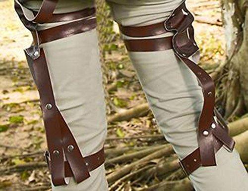 Sicherheitsgurte Anime Angriff auf Titan Eren Ackerman die Jacke Scouting-Schicht Legi ¨ ® n-Jacke Shirt der Hose einer einzigen Schicht S Kleid Hose Set L