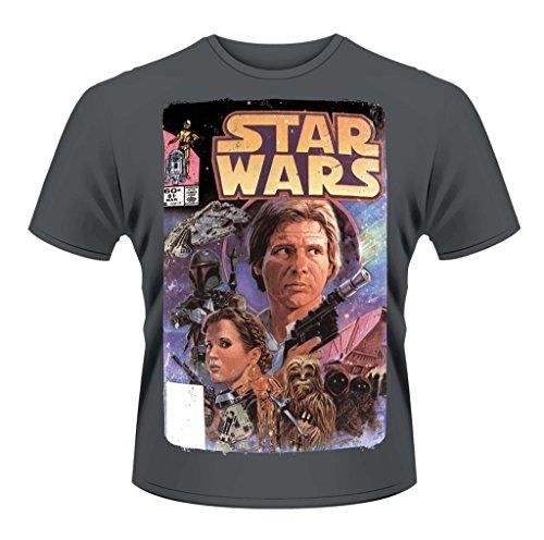 Star Wars Comic Princess Leia Han Solo ufficiale Uomo maglietta unisex Grigio