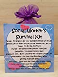 Social Worker's Survival Kit -Unique Fun Novelty Gift & Card All In One