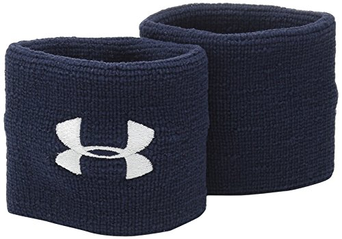 Under Armour 1276991 Synthetic Performance Wristbands, One Size (Midnight Navy)