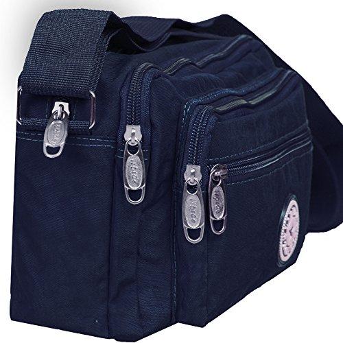 IKRR Damen-Kreuz-Körper-Beutel-beiläufiger Gebrauch-Spielraum-Schulter-Beutel für Damen Blau