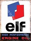 Elf Huile Moteur Haute Performance Vintage Garage Métal/Panneau Mural Métalique - 15 x 20 cm