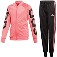 adidas Pes TS tuta bambina, Rosa/Nero/Bianco (REAPNK/Black/White), 12-13 anni