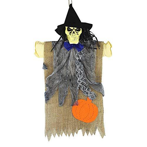 gaddrt Halloween Party Dekorationen Hängendes Skelett Hexe Vogelscheuche, a (Scary Vogelscheuche Halloween-masken)