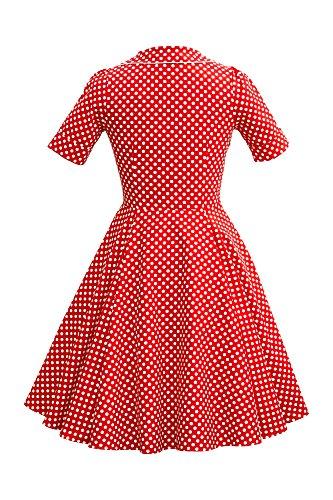 'Sabrina' Vintage Polka-Dots Kleid im 50er-J-Stil - 2