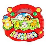 Kleinkindspielzeug Longra Coolplay Baby Kind Kleinkind Musical Educational Animal Farm Klavier Elektronische Tastatur Musik Entwicklung Kinder Spielzeug 17 * 15 * 3cm (a)