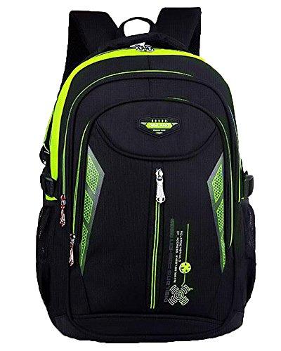 Impermeabile Scuola Borsa Casual Zaino Grande Capienza Backpack Rose Verde