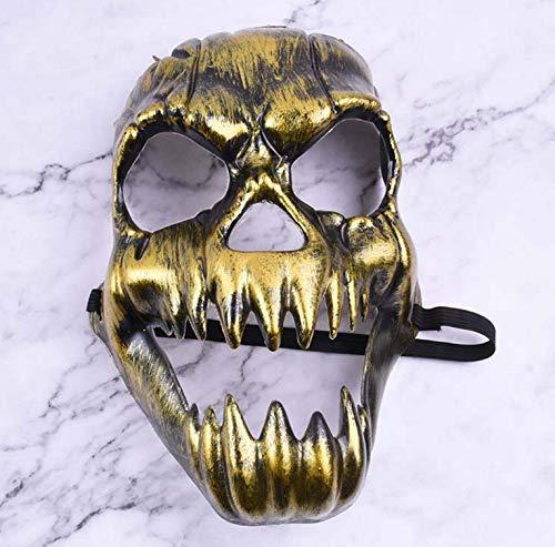 PVC grün Street Dance schwarz V Wort Maske Blut Gesicht Horror Halloween Tänzer Maske - kaltes Licht Ghost Head Fangs (Disco Tänzer Kostüm Kinder)