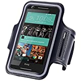 HTC U11 Fancy Sport Armband, Black Gym, Laufen, Jogging, Walking, Wandern, Workout und Übung Armband Holder Für HTC U11 mit extra einstellbare-Länge Erweiterung Band schwarz